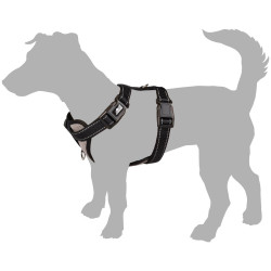 Flamingo FL-519129 Snowy harness size M. blue color. for dog. adjustable from puppy to adult. dog harness