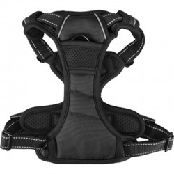 Flamingo Pet Products BALOU Harness, Size L. Black color for dog. dog harness