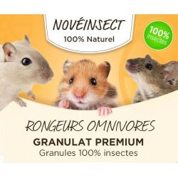 novealand futter für allesfressende Nagetiere Premium-Granulat 100% Insekten. - 110 Gramm. GR2-110-RO Snacks und Nahrungsergä...