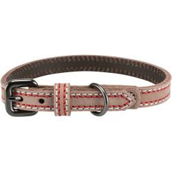Trixie Lederhalsband. Größe S. Cappuccinofarbe. Abmessungen: 31-37 cm/15 mm. für Hund TR-17925 Halskette