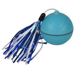 Flamingo FL-560770 ø 7 cm ball for cats. Magic Mechta, 2 in 1 with LED and feather duster . color blue. Games