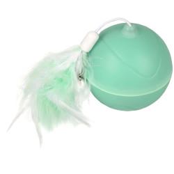 Flamingo Kugel ø 7 cm. magische Mechta 2 in 1 mit LED und Staubwedel . grüne Farbe. für Katzen. 560769 Spiele
