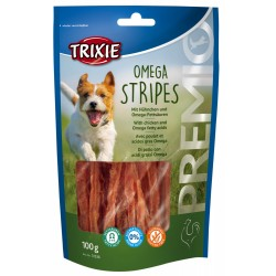 Trixie TR-31536x4 Chicken candy. for dogs. 4 bags of 100 gr - OMEGA Stripes Nourriture