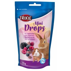 Friandises fruits des bois 75 gr Mini Drops Snacks et complément Trixie TR-60331