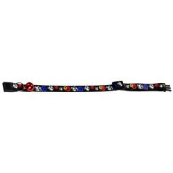 Flamingo Collier réglable de 20 à 35 cm. couleur noir avec motif souris. pour chat FL-1031355 Halsband, Leine, Gurtzeug, Gurt...