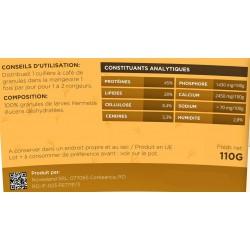 novealand nourriture pour Rongeurs omnivores granulat premium 100% insectes. - 110 grammes. GR2-110-RO Snacks et complément