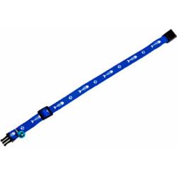 Flamingo Collier réglable de 20 à 35 cm. motif poisson + clochette.couleur bleu pour chat FL-1031347 Collier, laisse, harnais