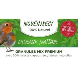novealand Natürliches Vogelfutter - MIX PREMIUM-Granulat mit 50 % Insekten in 100-Gramm-Gläsern. Natürlicher Fettgehalt GR3-1...