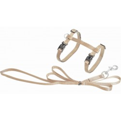 Flamingo FL-1031210 1.10 meter harness and leash for cats. beige color collier laisse cage