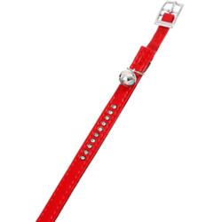 Flamingo Collier taille 30 cm x 11 mm. couleur rouge . avec strass et clochette. pour chat FL-67682 Collier, laisse, harnais
