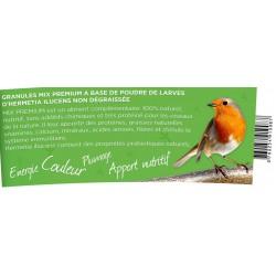 Natural bird food - MIX PREMIUM granules with 50% insects jar of 100 grams. Natural fat intake Nourri....