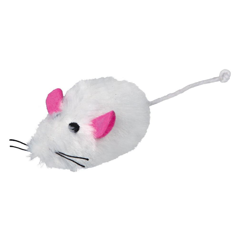 TR-4116-x2 Trixie lot de 2 souris peluche 1 blanche et 1 grise. pour chat Juegos