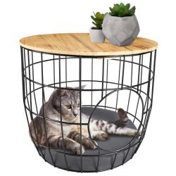 Flamingo FL-560871 Wire basket 50 x 50 x 41 cm. black. for cats Sleeping