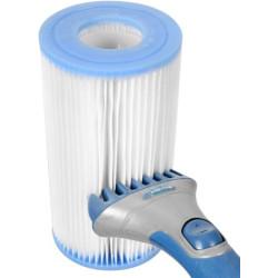 BROSSE01 Jardiboutique Cepillo de pistola para limpieza de filtros de spa o cartuchos de piscina Filtración de piscinas