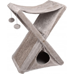 Flamingo FL-560959 Foldable scratching post 53.5 x 34.5 x 60.5 cm. for cats . color grey Griffoirs