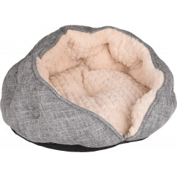 Flamingo FL-560891 Round cushion ø 45 x 24 cm. ZUPO. grey and beige. for cats Sleeping