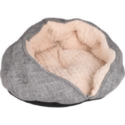 Flamingo Rundes Kissen ø 45 x 24 cm. ZUPO. grau und beige. für Katzen FL-560891 Schlafen