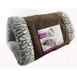 FL-560892 Flamingo Tunnel 32 x 55 x 23 cm. tunnel en triangle Snoozzy 2 en 1 . pour chat. Dormir