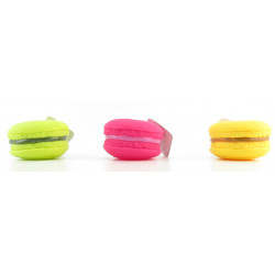 Flamingo FL-514560 Toy Macaron ø 7 cm for dog. plastic. random colour Jeux