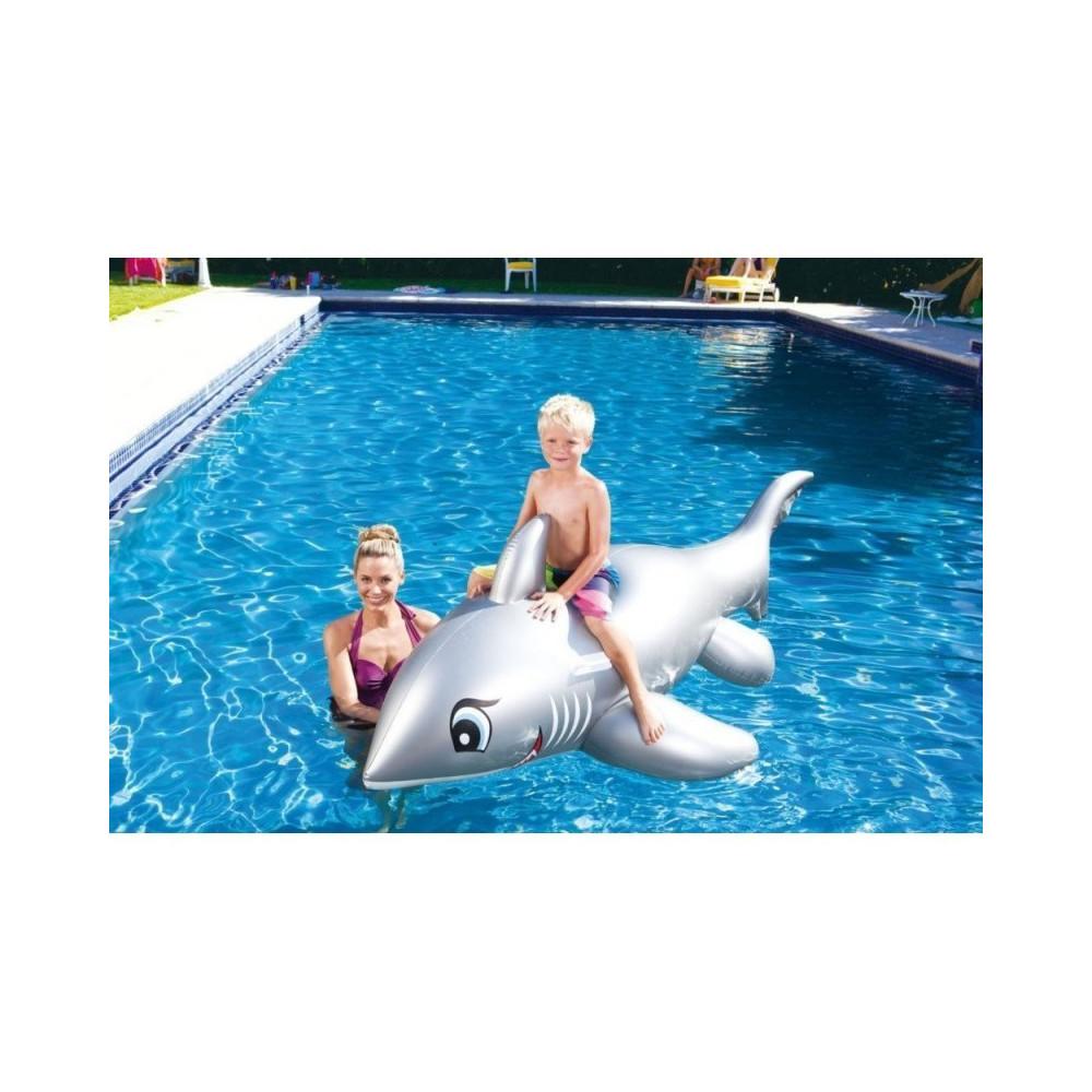Jardiboutique Bouée forme requin pour piscine Jeux d'eau