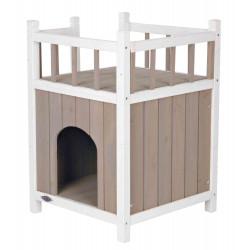 Trixie Haus mit Balkon für Katzen. 45 x 65 x 45 cm. für den Außen- oder Innengebrauch TR-44093 Schlafen