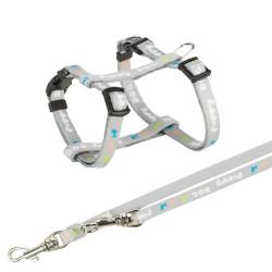 Trixie TR-15340 Harnais Junior pour chiot avec laisse. Dimensions: 23-34 cm/8 mm. couleur gris. dog harness