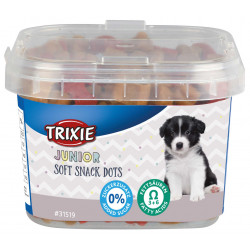 Trixie Friandise pour chiot au poulet et saumon. 140 g . Junior Soft Snack Dots TR-31519 Chiot