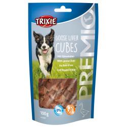 Trixie Fegato d'oca e caramelle al fegato d'oca. per cani. bustina da 100 g. PREMIO Cubetti di fegato d'oca TR-31867 Nourriture