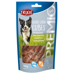 Trixie TR-31867 Goose liver and goose liver candy. for dogs. 100 g sachet. PREMIO Goose Liver Cubes Nourriture