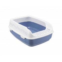 TR-40391 Trixie Bac à litière Delio Bleu et blanche 49.5 x 38 x 20 cm pour chat Cajas de arena