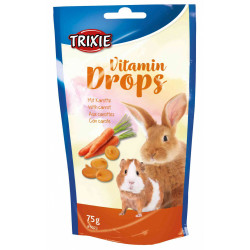 TR-6023 Trixie Friandises carotte 75 gr Mini Drops Friandise