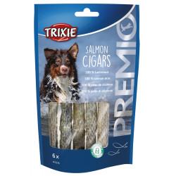 Tr-31576 Trixie Friandise pour chien. PREMIO Salmon Cigars. longueur 12.5 cm. 6 pieces. Nourriture