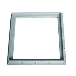 Interplast rahmen 40 x 40 cm aus grauem Polypropylen - INTERPLAST SASCADRE400G Klempnerei