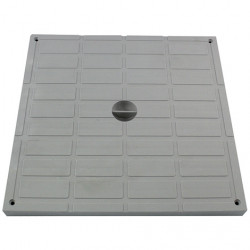Interplast leichte Unterlage 40 x 40 cm Polypropylen grau - INTERPLAST SASTAPPP400G Klempnerei