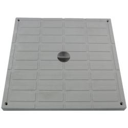 Interplast tampon léger 40 x 40 cm gris polypropilène - INTERPLAST SASTAPPP400G Plomberie