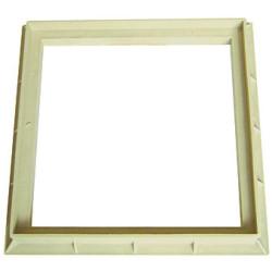 Interplast Cadre 40 x 40 cm sable polypropylène - INTERPLAST SASCADRE400S Plomberie