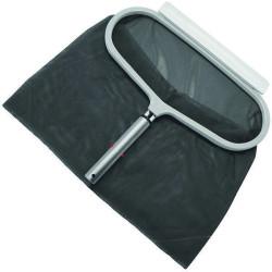 Jardiboutique Épuisette de fond piscine a grand filet avec cadre alu gamme luxe, tous couleur alu. Épuisette