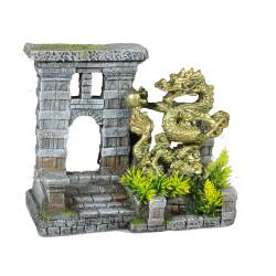 Decoração da porta do dragão do aquário, tamanho 215 x 110 x 185 mm VA-15223 Decoração e outros