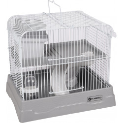 Flamingo FL-210148 Cage for dinky hamster - grey colour, size: 30 x 23 x 26 cm Cage