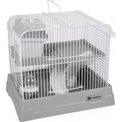 Flamingo Käfig für Zwerghamster - graue Farbe, Größe: 30 x 23 x 26 cm FL-210148 Käfig