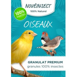 novealand GR2-30-O Bird food granules 100% insects - 30 gram jar - hermetia illucens larvae Food and drink