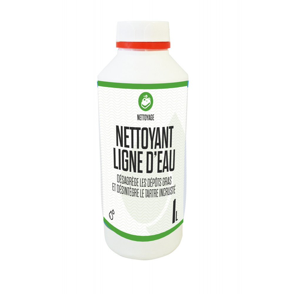 Gamme blanche  Nettoyant ligne d'eau piscine, 1 litre. SC-CWR-500-0014 Produit de traitement