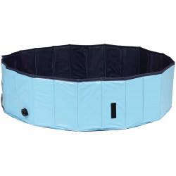 TR-39483 Trixie Piscina para perros, Tamaño: ø 160 × 30 cm Color: azul claro/azul Jeux