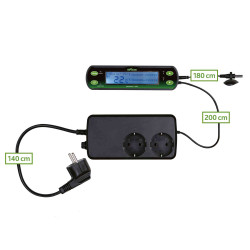 Trixie Thermostat digital avec deus circuit. pour reptiles. TR-76124 Thermomètre