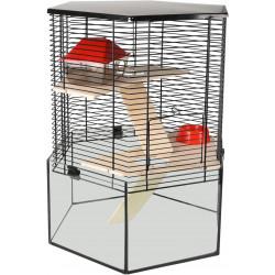 Flamingo Käfig für Hamster VITRU Hexagon. 43.5 x 52 cm. für Nagetiere FL-210268 Käfig