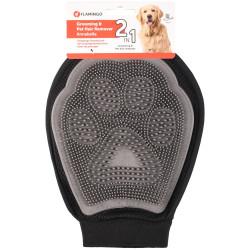 Flamingo Gant brosse et enlève poils ANNABELLE 2 en 1 . pour chiens et chats FL-517738 Pflege und Hygiene