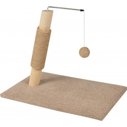 Flamingo FL-560552 Cat tree for kitten. SCANDI basic beige. 30 x 49 x 37.5 cm Arbre a chat, griffoir