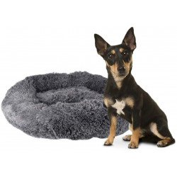 Flamingo FL-519465 KREMS round cushion, grey colour ø 90 cm. for dogs Dodo