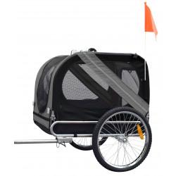 Flamingo DOGGY LINER JULIETTE trailer. 80 x 57 x 64 cm. grigio e nero. per cani FL-5331605 Transport