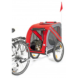 Flamingo Pet Products DOGGY LINER JULIETTE trailer. 80 x 57 x 64 cm. red and grey. for dogs Transport